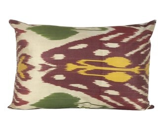 Red Kilim Ikat Cushion Cover, 40 x 60 cm, Decorative Pillows