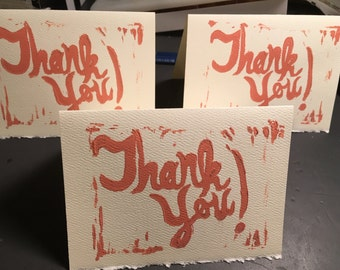 Thank You Notecards Set of Five