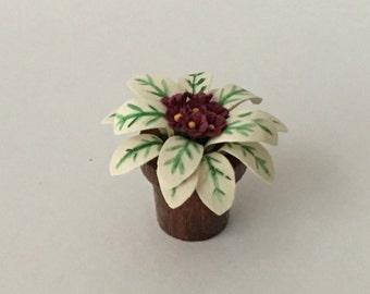 Dollhouse Miniature African Violet Artist Made