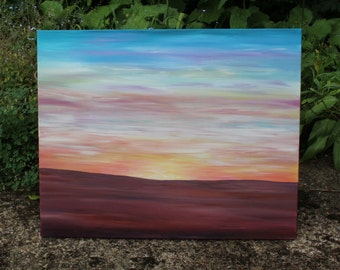 Tangerine Dreams * Elements Painting * Acrylic on Canvas * Original * Sunset *