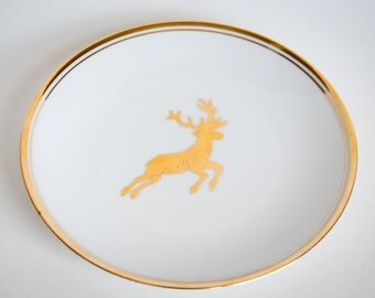 Marshall Field's limited edition plate Der Goldene Hirsch VINTAGE 1985 Reutter Porzellan made in Germany