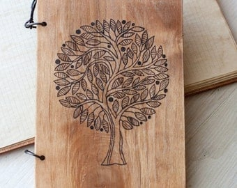 Notebook A5 with wooden cover