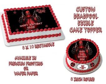 Deadpool  Edible Images Cake topper
