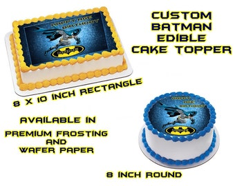 Batman Edible Images Cake topper