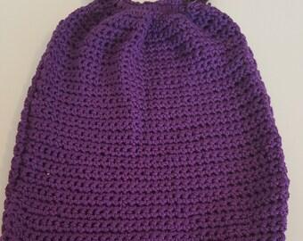 Purple Crocheted Thread Purse