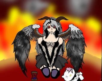 Demonic Angel- Award Winning- Print