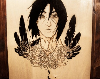 """The pyrography wall picture """"Wisest of Uchiha"""""""