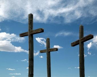 Three Crosses Note Card