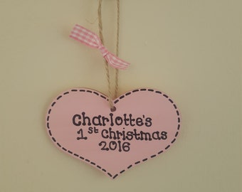 Personalised babys first christmas