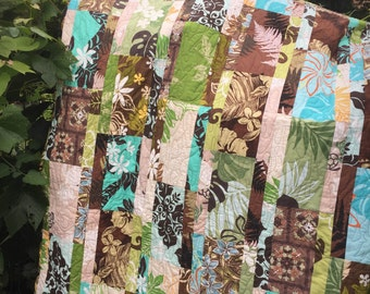 Blue Hawaii Lap Quilt
