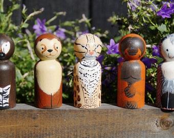 Alphabet Animal Peg Dolls