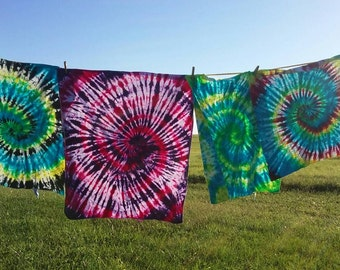 Tie dye baby receiving blankets