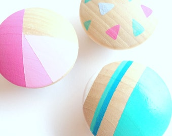 Hand Pained Dresser Knobs - Mix & Match