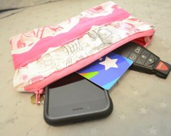 Ready to Ship Ruffle Clutch-Clutch Purse- Make-Up Bag- Zippered Clutch- Holiday Gift- Toiletry Bag- Handbag