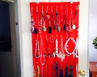 Red Nookles Over-the-Door Jewelry Organizer