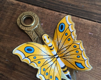 Vintage Allie Brass Butterfly Wall Mounting Clip