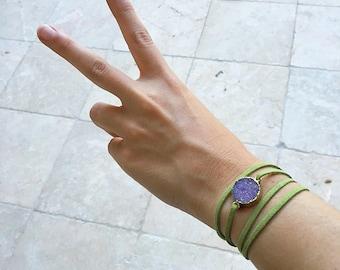 Circle Stone Wrap Bracelet