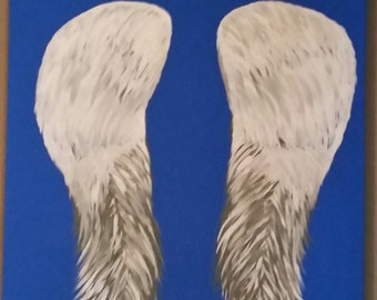 "Angel Wings-Protection 4 on 22""x28"" canvas-in acrylic paint"