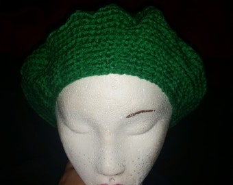 Green Slouch hat