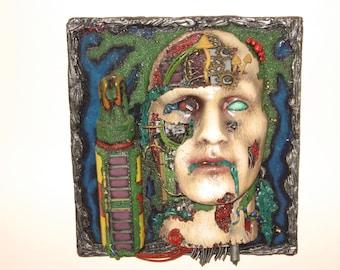 Cyborg Head 3d wall art