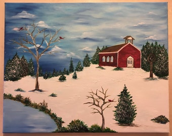 Holiday/Winter One Room Schoolhouse