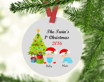 The Twins First Christmas Ornament - Twins - Twins Christmas Ornament