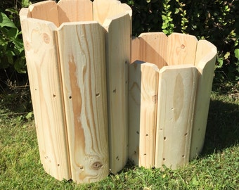 Double Octagon Planter, Wooden planters, Garden planter, Outdoor Planters (Free Delivery)
