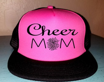 Cheer Mom Trucker Hat Snapback Hat Custom Trucker Hat Gameday Trucker Hat Sports Mom Cheer leading Hat Cheerleading Trucker Hat