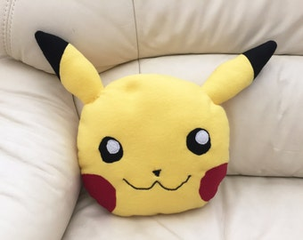 Fleece Pikachu Face Pillow