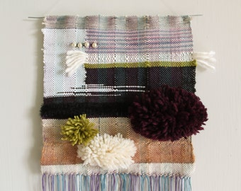 Autumn colors - a woven wall hanging