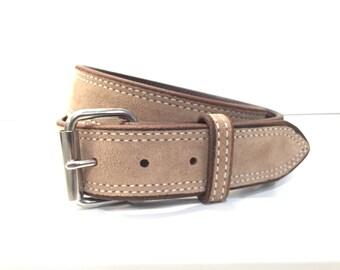 Taupe Suede Belt, Taupe Leather Belt, Taupe Belt, Mushroom Belt, Light Brown Belt, Suede Belt, Leather Belt