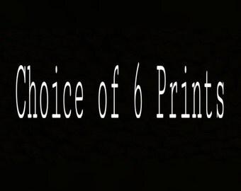 Choice of 6 Prints of Polaroid Drawings