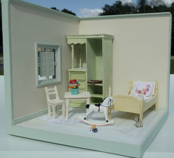 Miniature Children S Bedroom Room Box Diorama