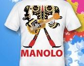 manolo,book of life shirt.  manolo Shirt.  book of life gift. book of life costume.  book of life  birthday