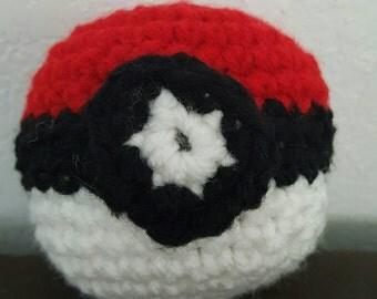 Crocheted Pokeball Amigurumi