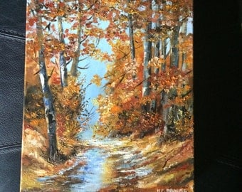 """oil painting, """"Autumn months"""", oil on Canvas, Impressionism 30cmX25cm (11.81 x 9 84 inflates)"""