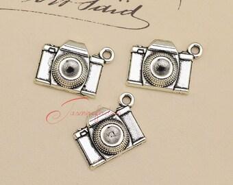 20PCS--21x16mm Camera Charms, Antique Tibetan Silver Camera charm Pendants, DIY Findings, Jewelry Making