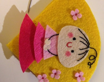 DIY Personalized Gift - Little girl bookmark