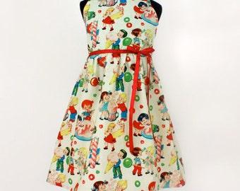 Sweet Fifties Girl's Halter Dress