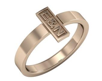 14K Solid Gold Cross Ring, Custom Cross Ring, Gold Cross Ring,  Christian Ring, Delicate Cross Ring, Tiny Cross Ring, Christmas Gift
