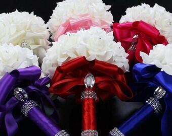 Foamflowers Rose Bridal bouquet
