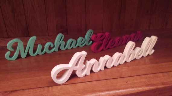 Children's wooden name plaques