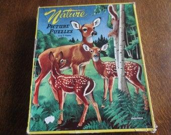Vintage Saalfield Nature Puzzles