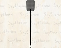 Fly Swatter // flap swat // ai eps jpg png svg digital image download 8x8 18x18 300dpi