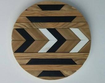 Round Geometric Arrow Wall Art