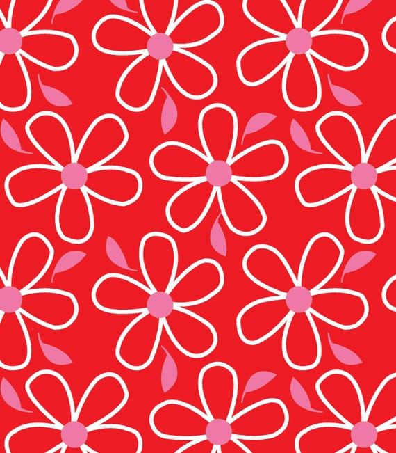 Red Flower- Quilt Camp Collection