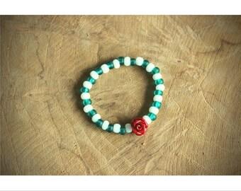 Birth bracelet with Rose!