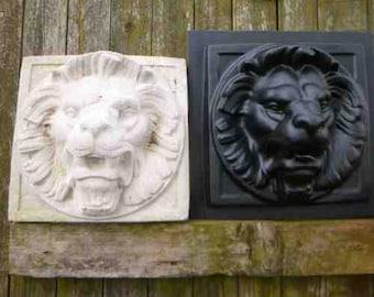 Large Lion Mask Plastic Mould Mold Concrete Plaster