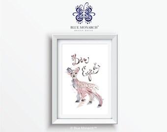 Doe Eyed Deer Printable, Wall Art, Nursery Wall Art, Woodland, Woodland Animal Art, Nursery, Nursery Art
