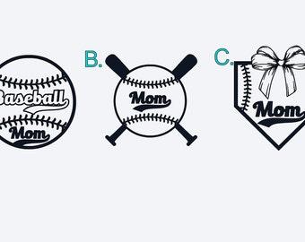 Baseball/Softball Mom Adhesive Decal or Iron On Decal
